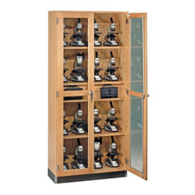 Science Classroom Storage Cabinet with Microscope Charger, L70064