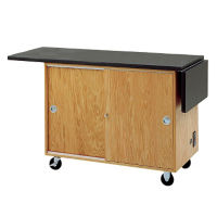 Mobile Lab Demonstration Table with Drop Leaves, L70073