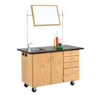 Mobile Lab Demonstration Table with Sink, L70077