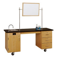 ADA Mobile Lab Demonstration Table with Sink, L70079
