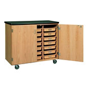 Mobile Lab Cabinet with Pull-Out Trays, L70085