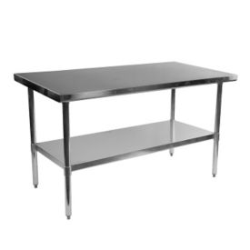 "Stainless Steel Table - 60""W x 30""D, T10090"