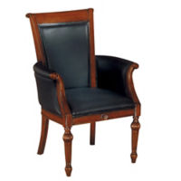 Leather High Back Guest Chair, C80150