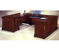 Executive U Desk with Right Bridge, D32146