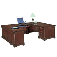 Executive U Desk with Left Bridge, L40395