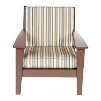 "Slat Back Lounge Arm Chair - 29""W, F10331"