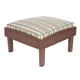 """Outdoor Ottoman with Cushion - 26""""W, F10332"""
