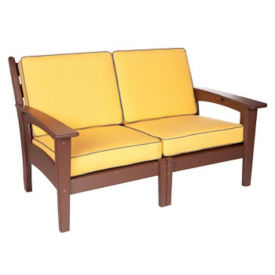 "Slat Back Lounge Loveseat - 58""W, F10333"