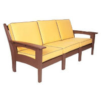 "Slat Back Lounge Sofa - 87""W, F10334"
