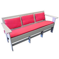 "Lounge Sofa with Sloped Seat - 74""W, F10340"
