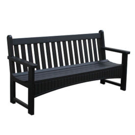 "Outdoor Slat Back Bench - 72""W, F10349"