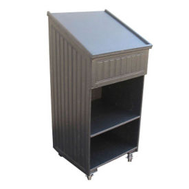 """Sloped Top Mobile Lectern - 72""""W, F10350"""