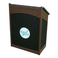 "Sloped Top Arch Design Lectern - 72""W, F10352"