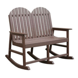 Recycled Plastic Two Seat Rocking Chair, F10296