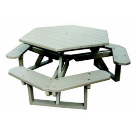 Recycled Plastic Hexagon Picnic Table, F10297