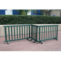 Recycled Plastic Security Barriers 6 ft W, F10298