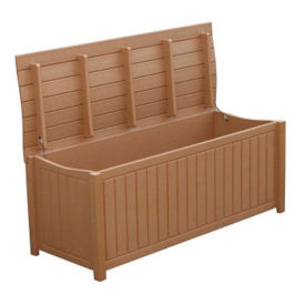 Recycled Plastic Curved Top Outdoor Storage Box, F10299
