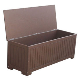 Recycled Plastic Outdoor Flat Top Storage Box, F10300