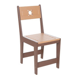 Recycled Plastic Outdoor Two Tone Cafe Dining Chair, F10302
