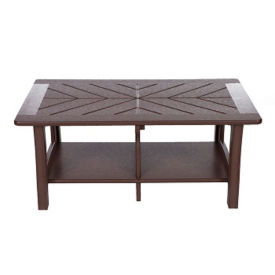 """Recycled Plastic Coffee Table Diagonal Top- 38""""Wx26""""D, F10303"""