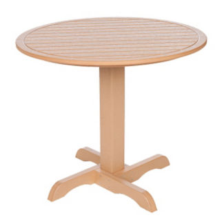 "Recycled Plastic Outdoor Round Dining Table - 35""Dia, F10305"