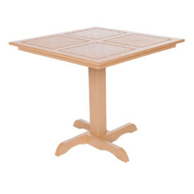 Recycled Plastic Outdoor Square Top Dining Table , F10307