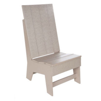 Recycled Plastic Outdoor High Back Side Chair, F10310