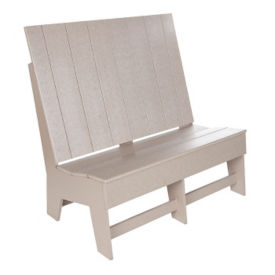 Recycled Plastic Outdoor High Back Loveseat, F10311