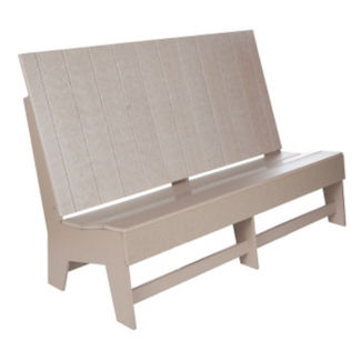 """Recycled Plastic Outdoor High Back Sofa - 66""""W, F10312"""