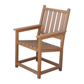 """Square Back Arm Chair - 24""""W, F10347"""