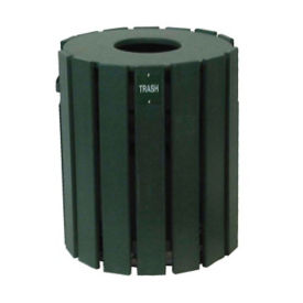 Recycled Plastic Outdoor Trash Bin - 20 Gallon, R20268