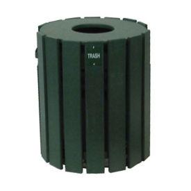 Recycled Plastic Outdoor Trash Bin - 20 Gallon, R20268