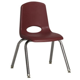 "Stack Chair with Nylon Swivel Glides 14""H Seat, C70387"