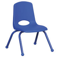 "Stack Chair with Matching Legs and Ball Glides 10""H Seat, C70399"