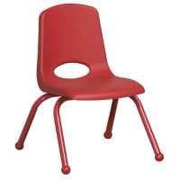 "Stack Chair with Matching Legs and Ball Glides 12""H Seat, C70400"
