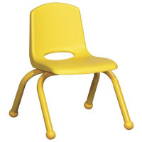 "Stack Chair with Matching Legs and Ball Glides 14""H Seat , C70401"