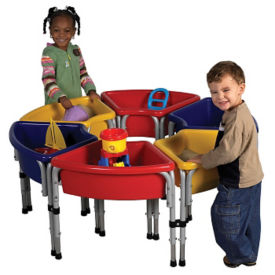 6 Station Round Sand and Water Table Set, P40273