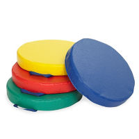 4 Large Round Floor Cushions, P40294