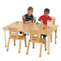 "Rectangular Bentwood Play Table 30""W x 48""D x 16""H, T11317"
