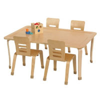 "Rectangular Bentwood Play Table 30""W x 48""D x 18""H, T11318"