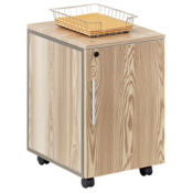 At Work Mobile Storage Pedestal in Warm Ash, B34745