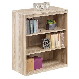 At Work Three Shelf Bookcase in Warm Ash, B34748