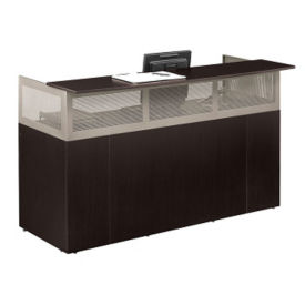 At Work Reception Desk with Pedestal, D35347