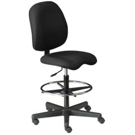 Armless Fabric Contoured Ergonomic Stool, C80301