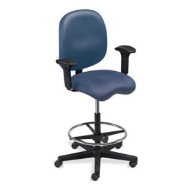Vinyl Task Stool with Arms, C80405