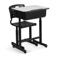 Cantilever Base Adjustable Height Desk and Chair Set, J10084