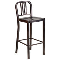 "Antique Metal Bar Stool - 42""H, K10077"
