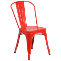 Armless Metal Chair , K10078