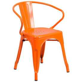 Cafe Metal Chair with Arms, K10080