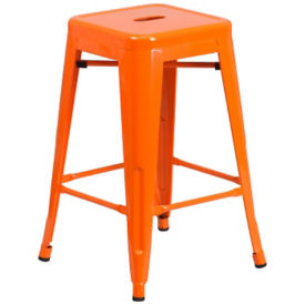 "Backless Metal Barstool - 24""H, K10082"